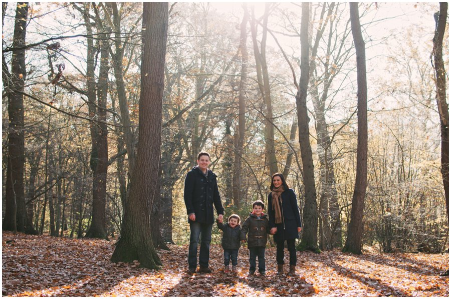 family lifestyle photography in an autumnal Belfairs Woods, Leigh-on-sea, essex