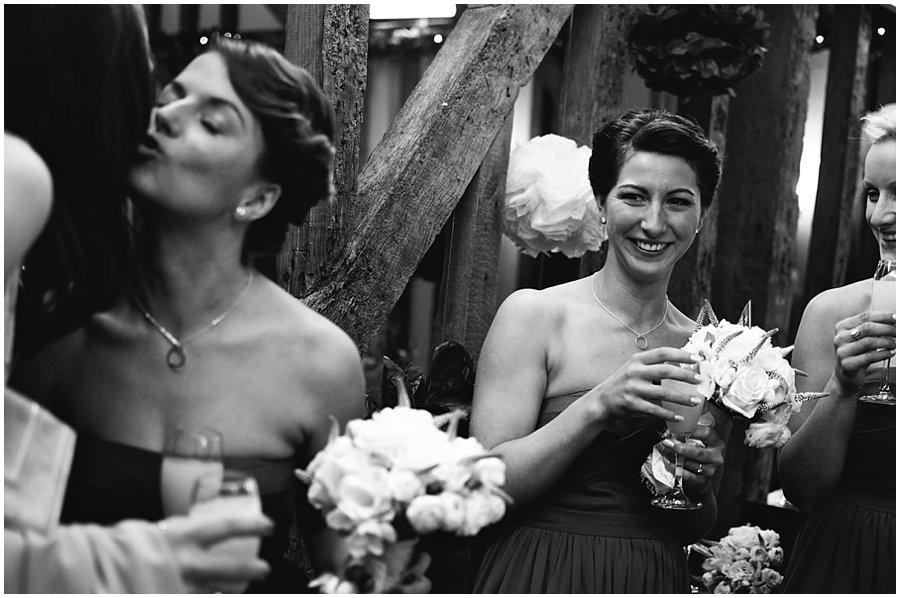 bridesmaids at a wedding at crondon park