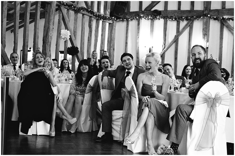 guests laughing during speeches at crondon park