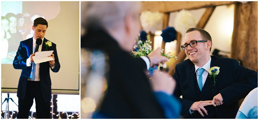 best man making his speech at Crondon Park Wedding