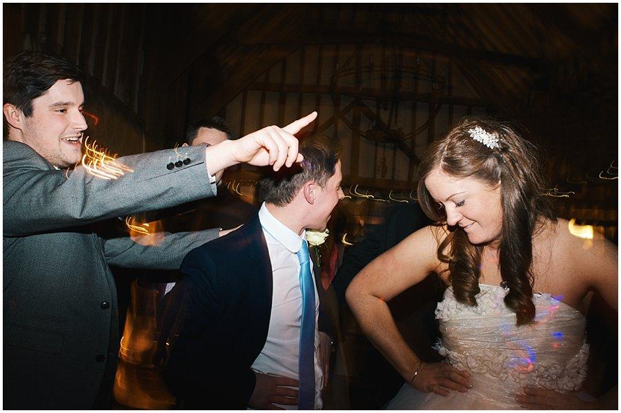 bride and guests dancing at Crondon Part wedding.