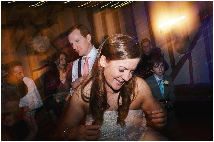bride dancing at her crondon park wedding