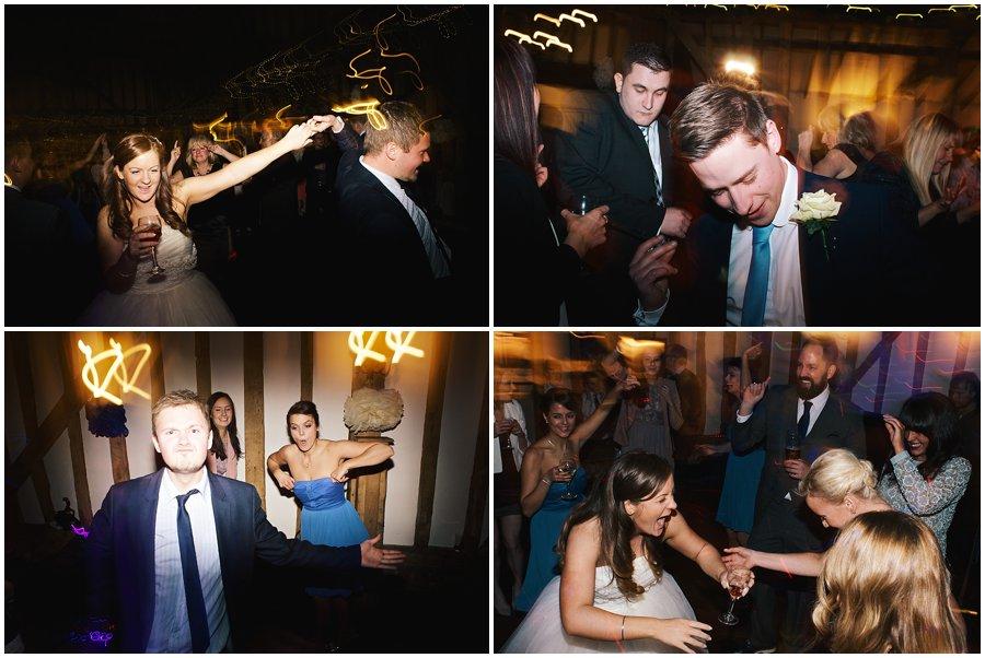 bride and gusts dancing at Crondon Part wedding.