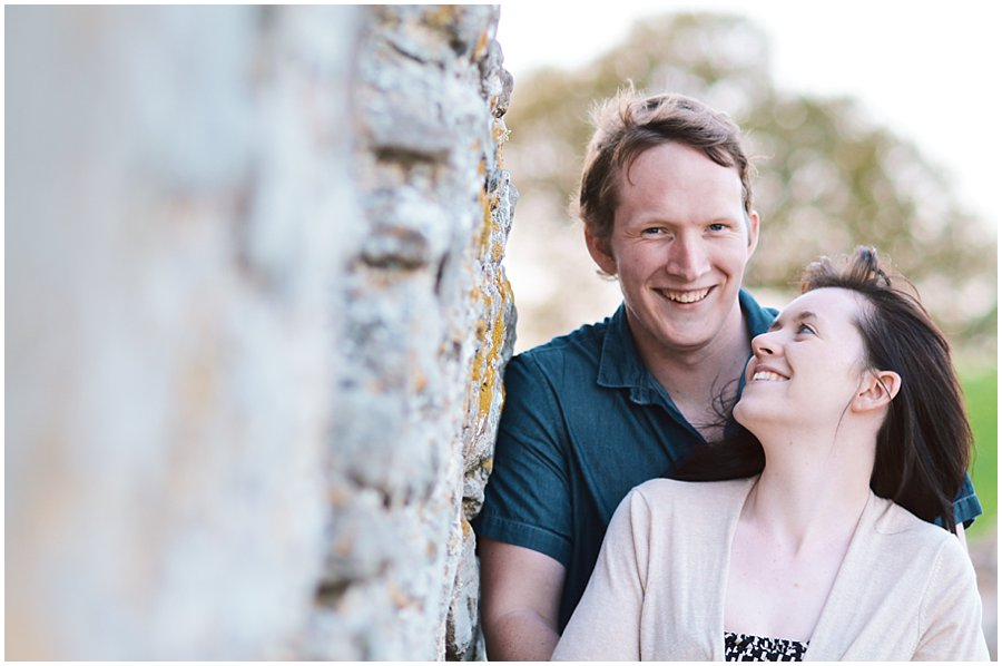sunset hadleigh castle engagement shoot