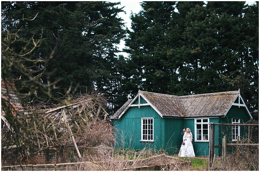wedding portrait at red brick barn in rochford