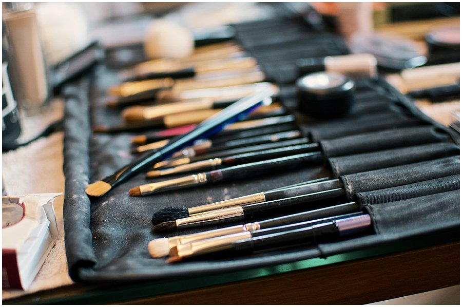 Professional make up brushes