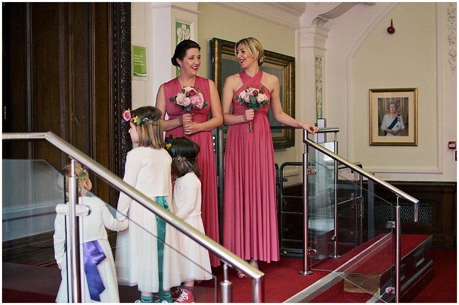 Bridesmaids and flowergirls