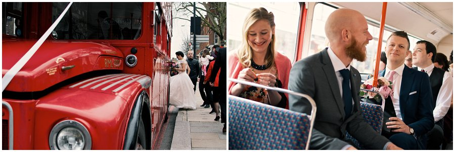 London Bus Wedding Photographer