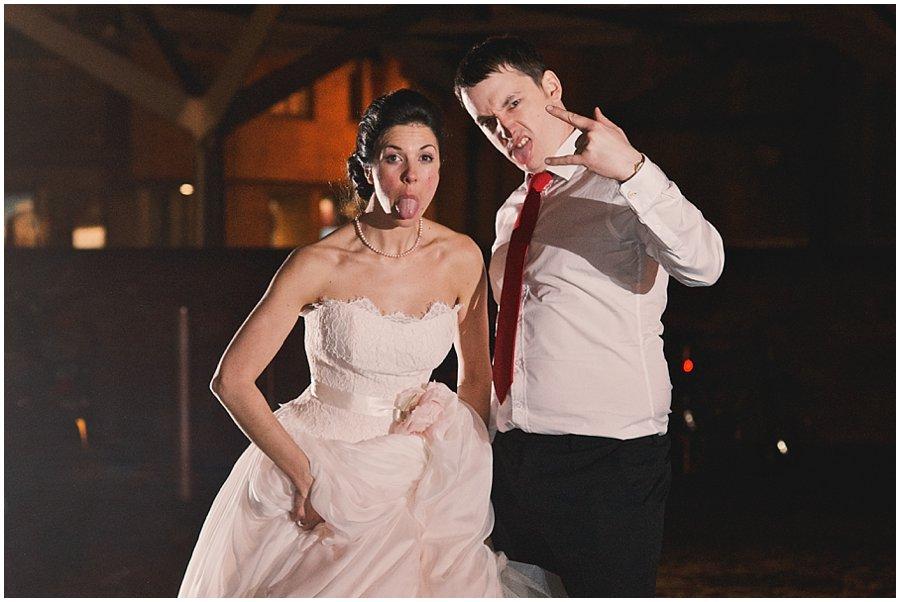 Alternative wedding portrait