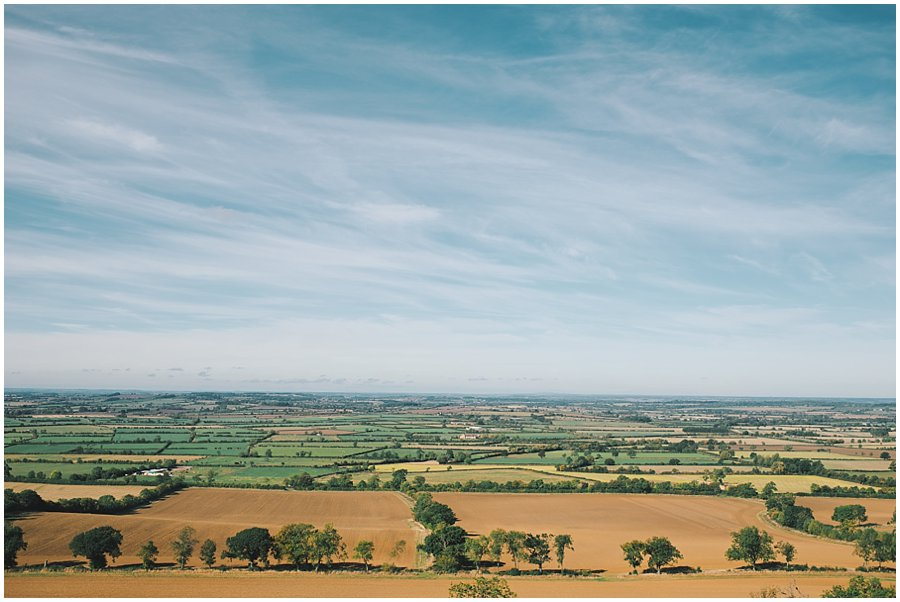 The view from Edgehill, Warwickshire