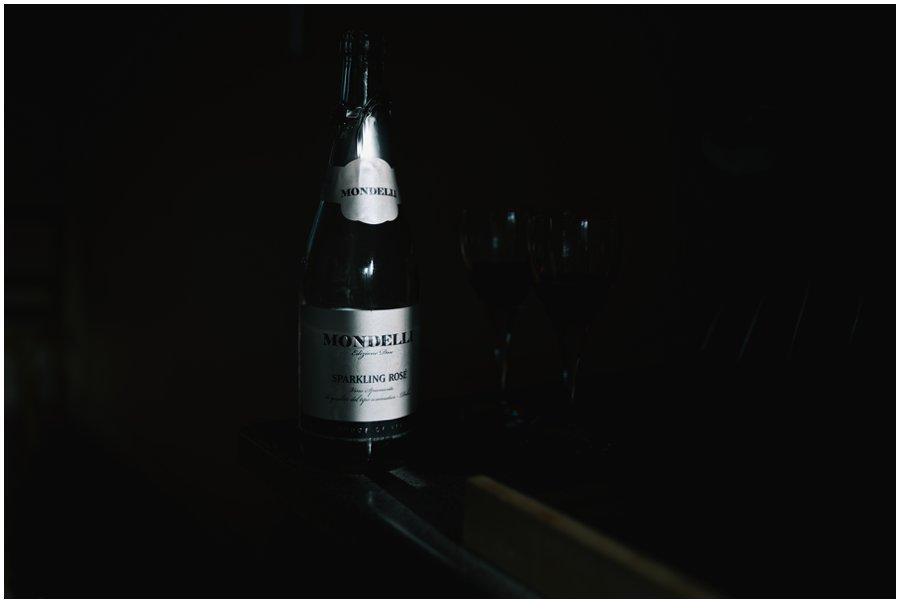 winter light on bottle