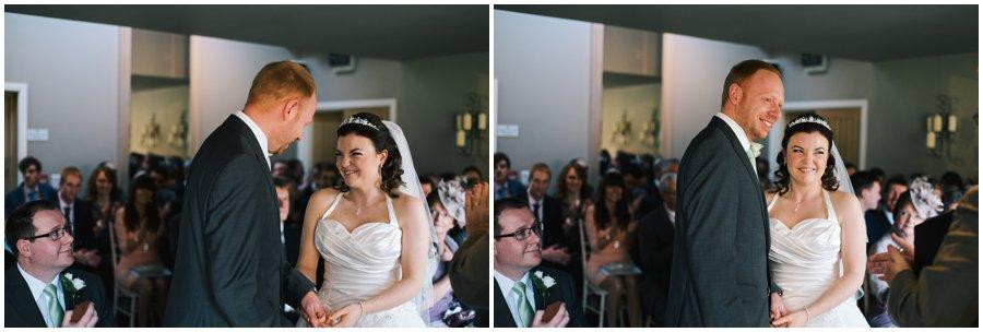 wedding ceremony at hyde barn