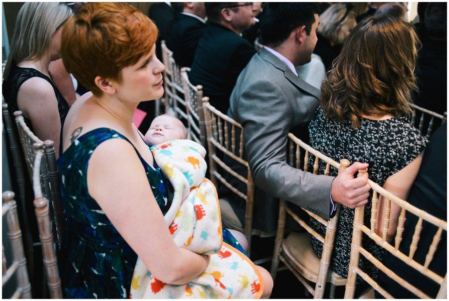 baby sleeping at hyde barn wedding