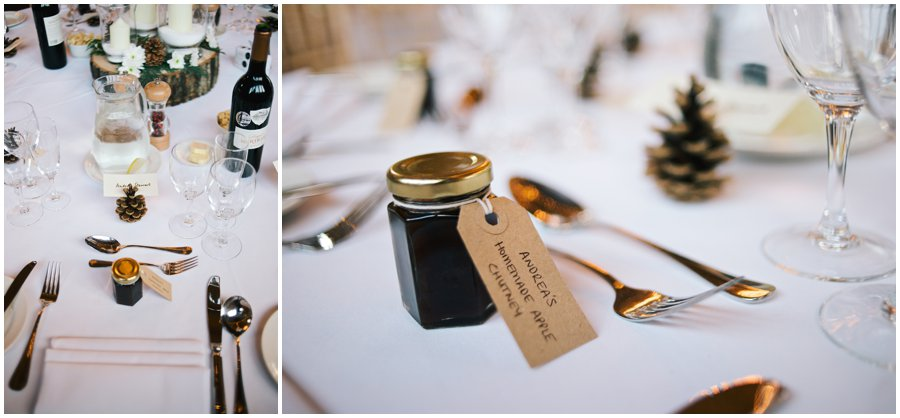 table details at hyde barn wedding