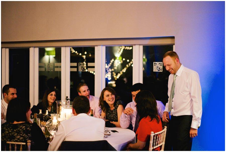 guests having fun at hyde barn wedding