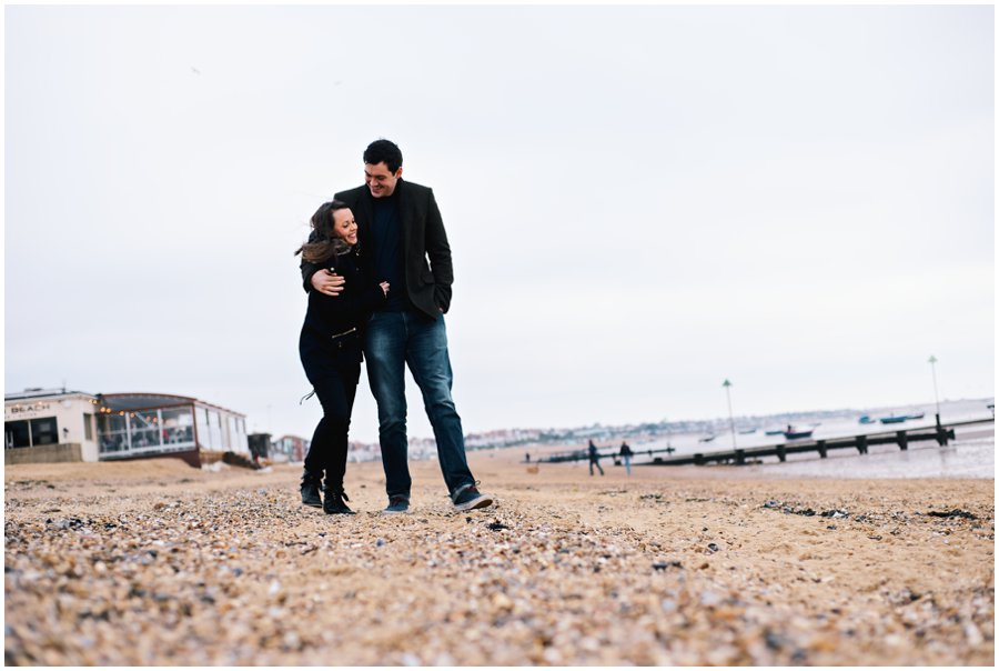 Engagement shoot on Southend Beach