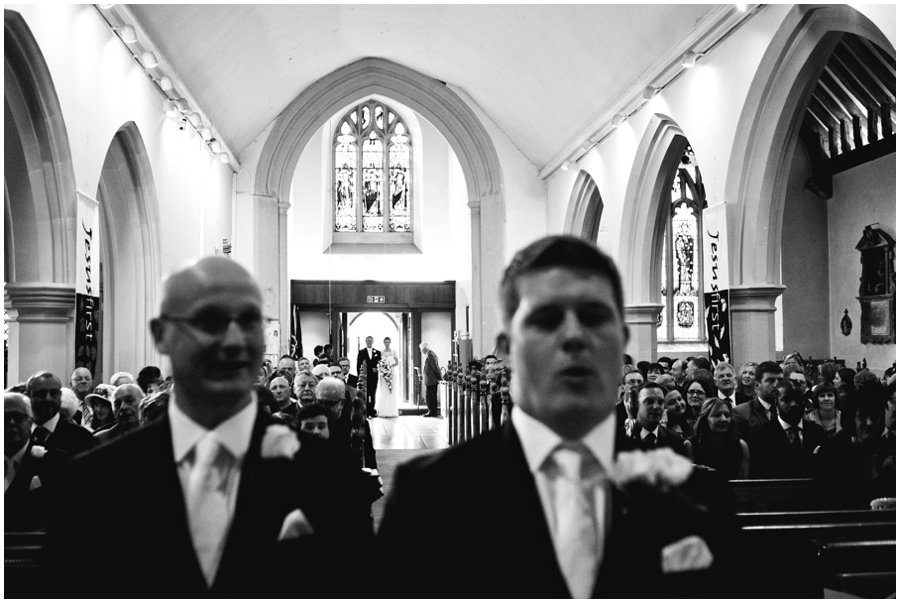 Natural wedding photography at St Clements Church in leigh-on-sea