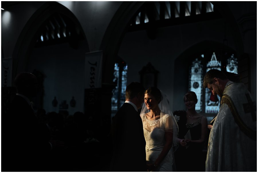 Documentary wedding photography at st clement's church in Leigh-on-sea