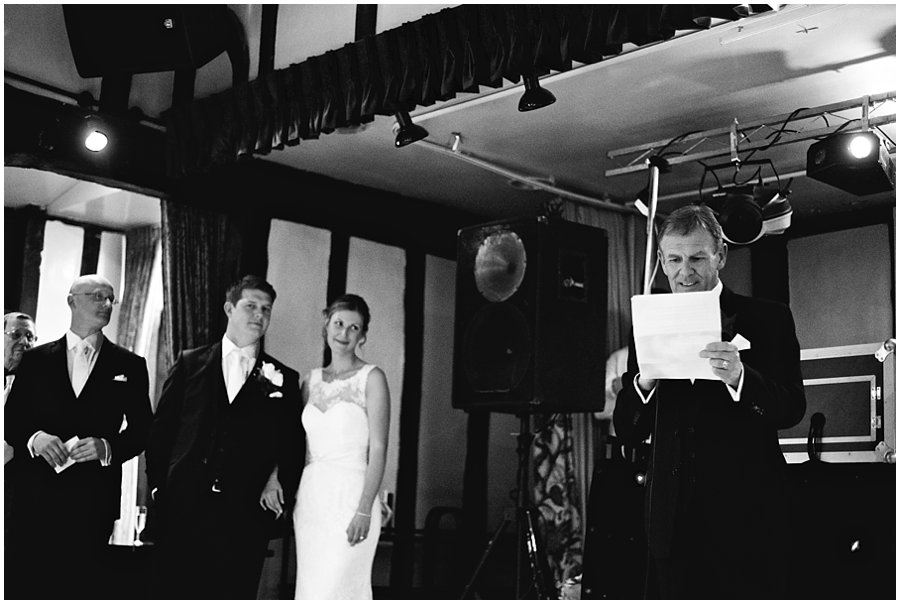 wedding speeches at the Chichester Hotel