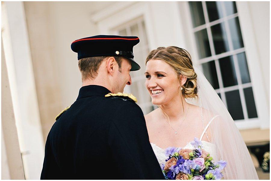 Military wedding portrait
