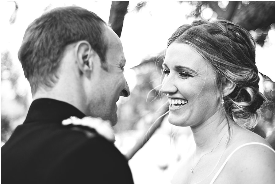 Natural wedding photography at a military wedding