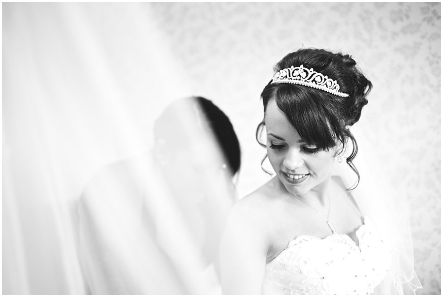 final touches of bridal preparations before Newland Hall Wedding