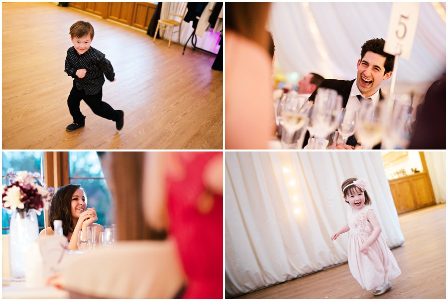 guests having fun at Newland Hall Wedding