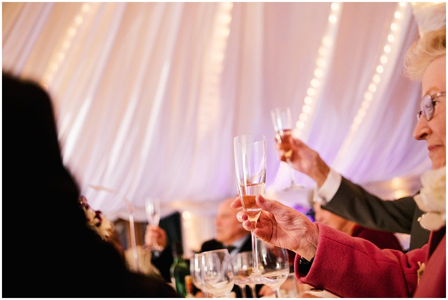 toasts at Newland Hall Wedding