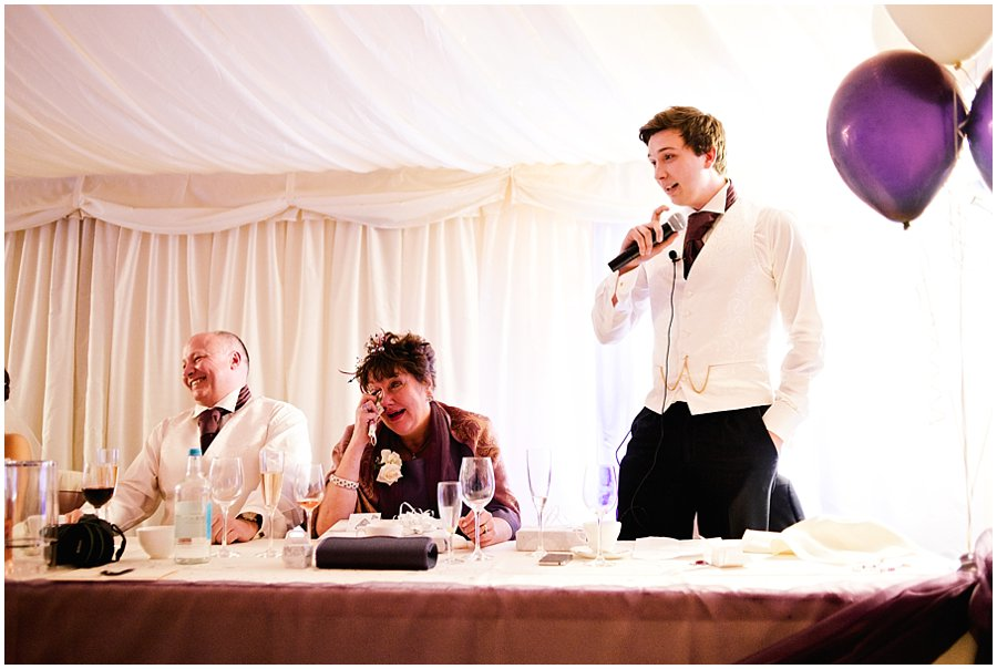 Speeches at Newland Hall Wedding