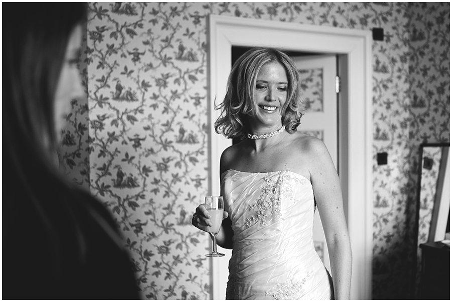 bride looking natural