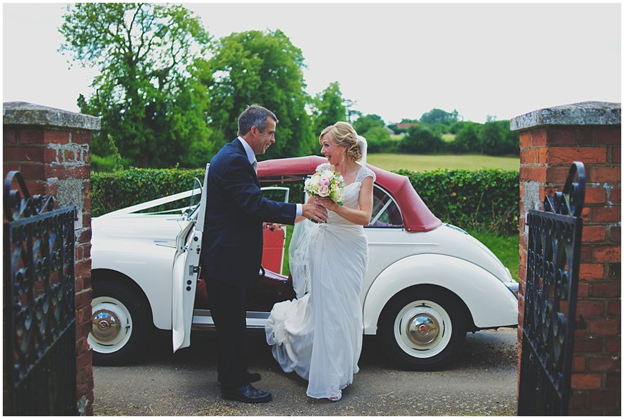 Vintage Morris Minor Wedding Car by crown wedding car hire