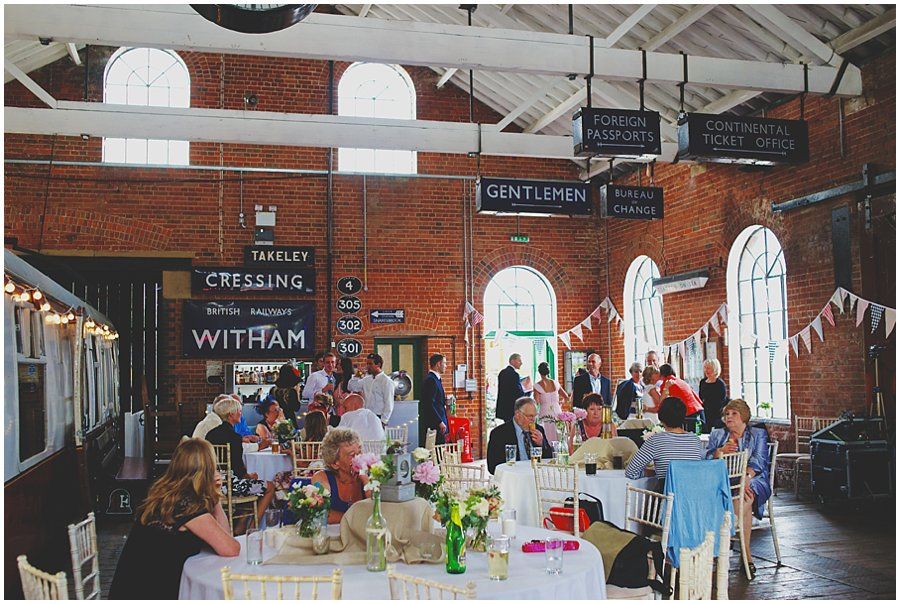 Wedding at East Anglian Railway Museum