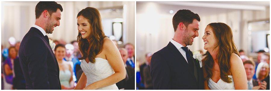 wedding ceremony at Woodhall Manor