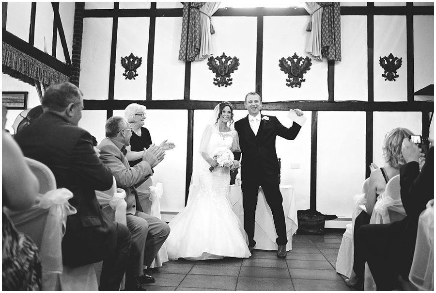 wedding ceremony at Ye Olde Plough House