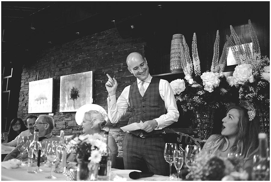 speeches at Century Club wedding