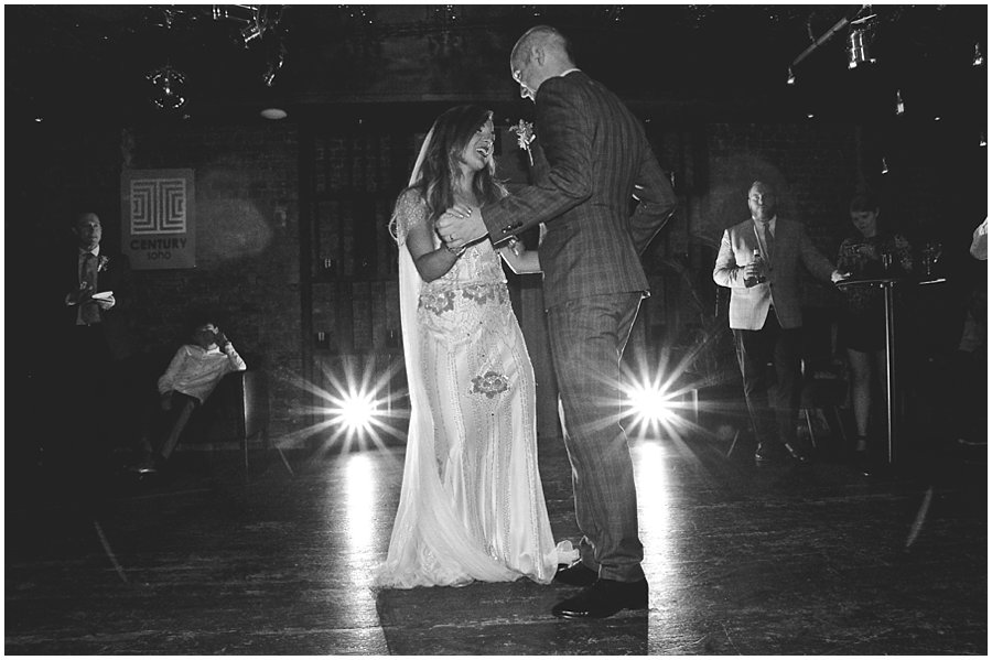 first dance at century club wedding
