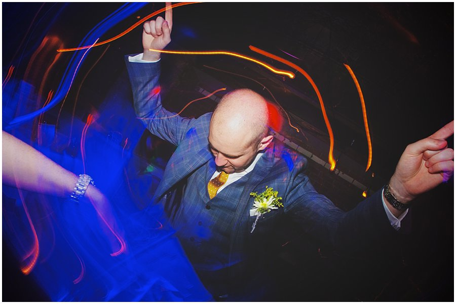 groom dancing at century club wedding