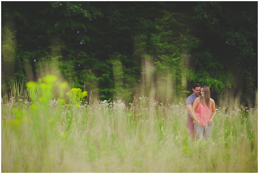 Engagement shoot at Gusted Hall Woods in Essex