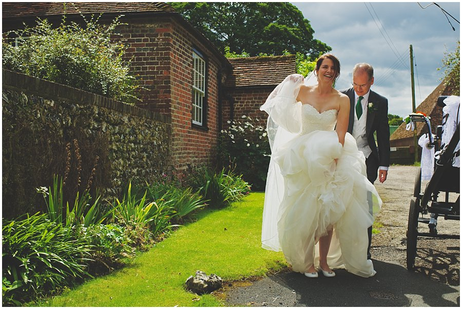 bride at Barham Church