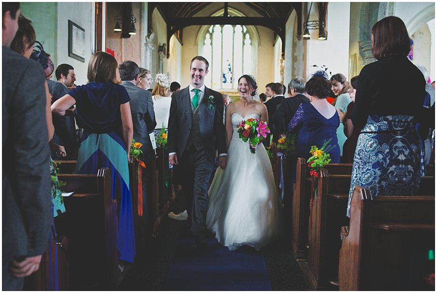 bride and groom at Barham Church