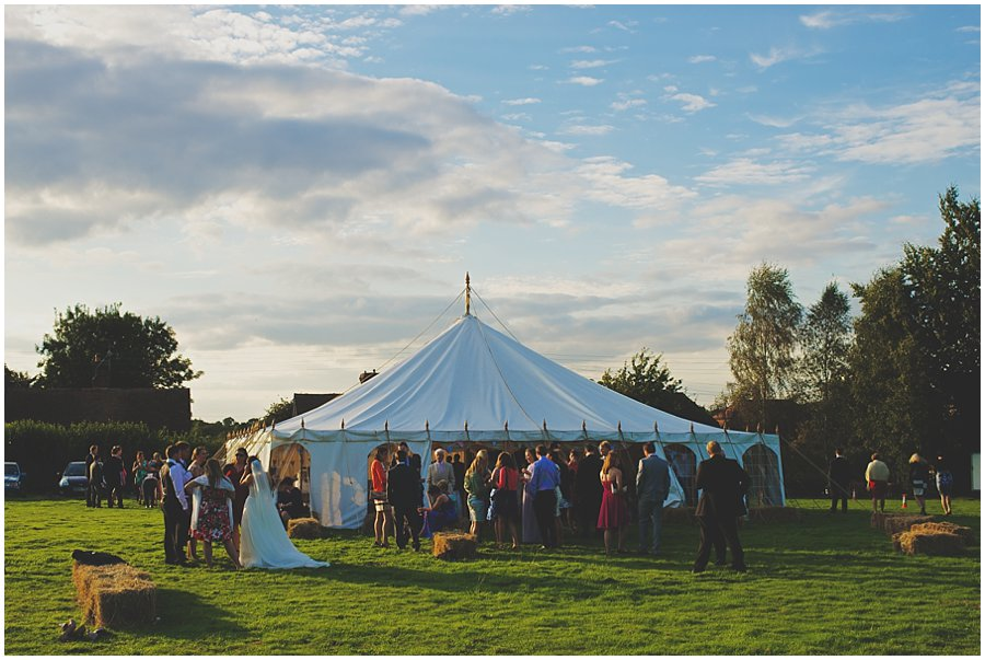 Wedding Marquee at sunset