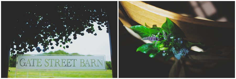 wedding at Gate Street Barn
