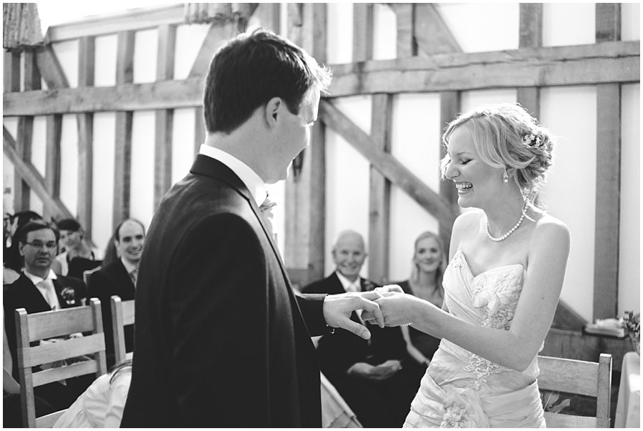wedding ceremony at Gate Street Barn