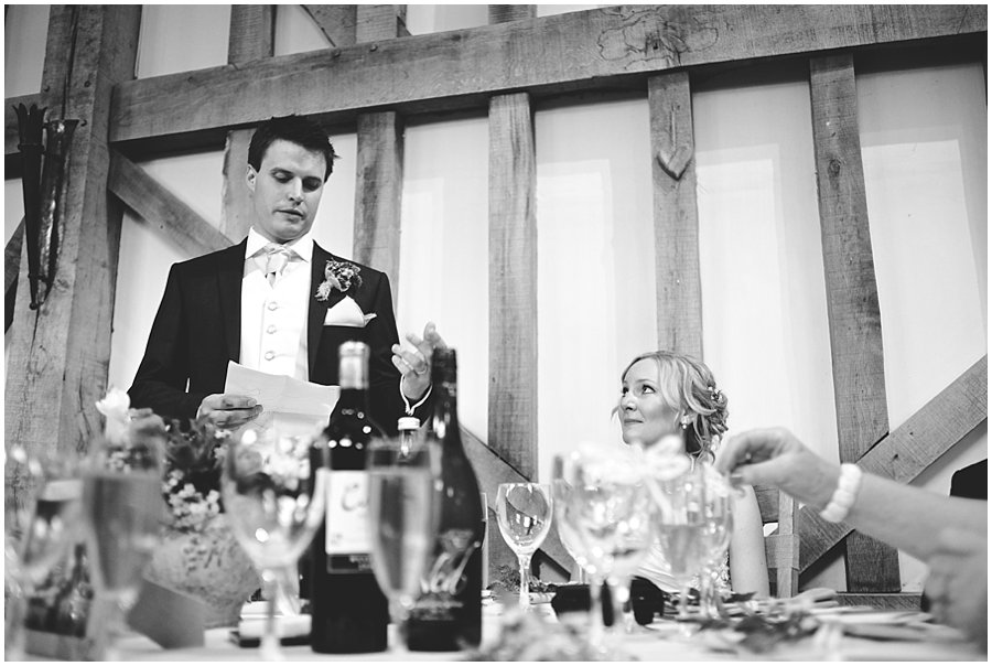 emotional wedding speeches at Gate Street Barn