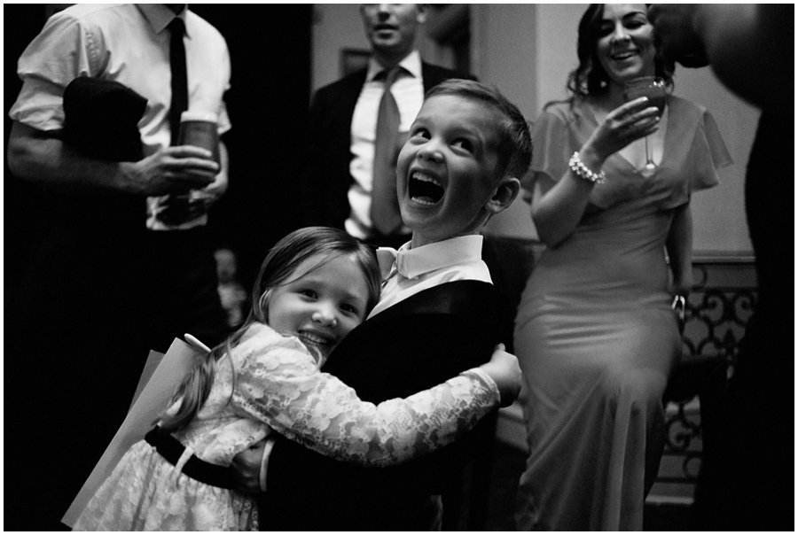 Cute kids at Essex Wedding