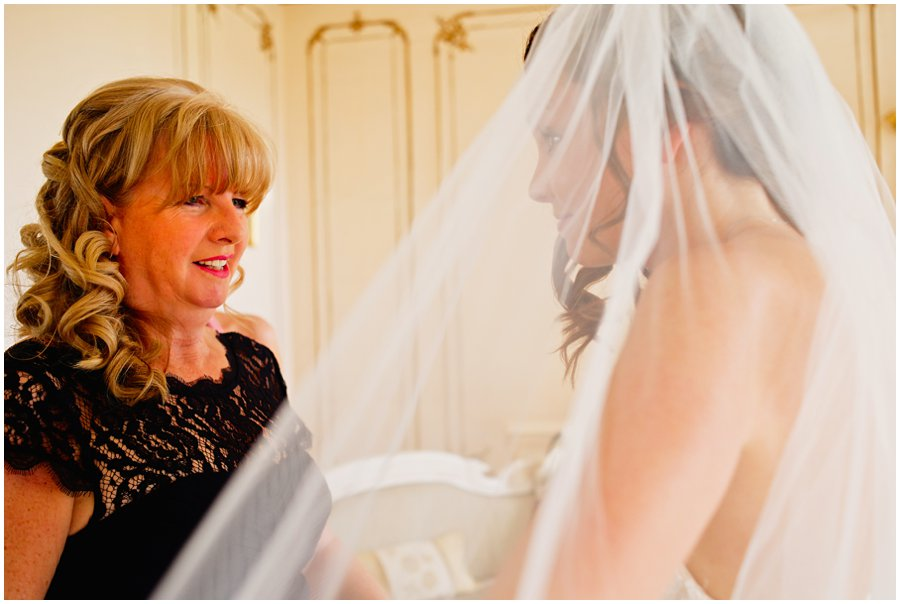 Bride and mother in Gosfield Hall bridal suite
