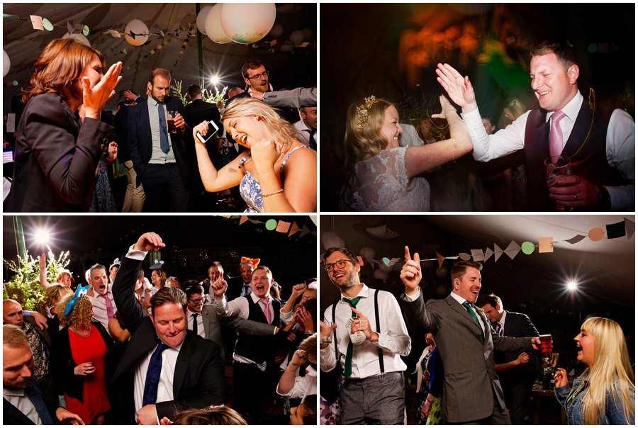 Party at marquee wedding