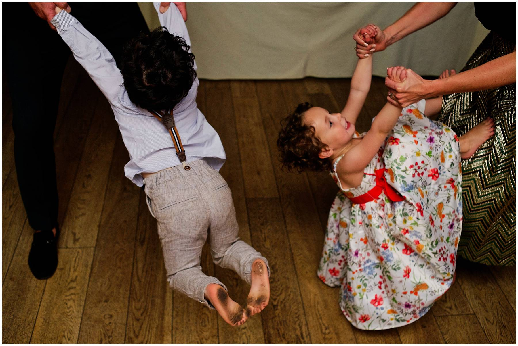 Children dancing at Secret Garden Wedding