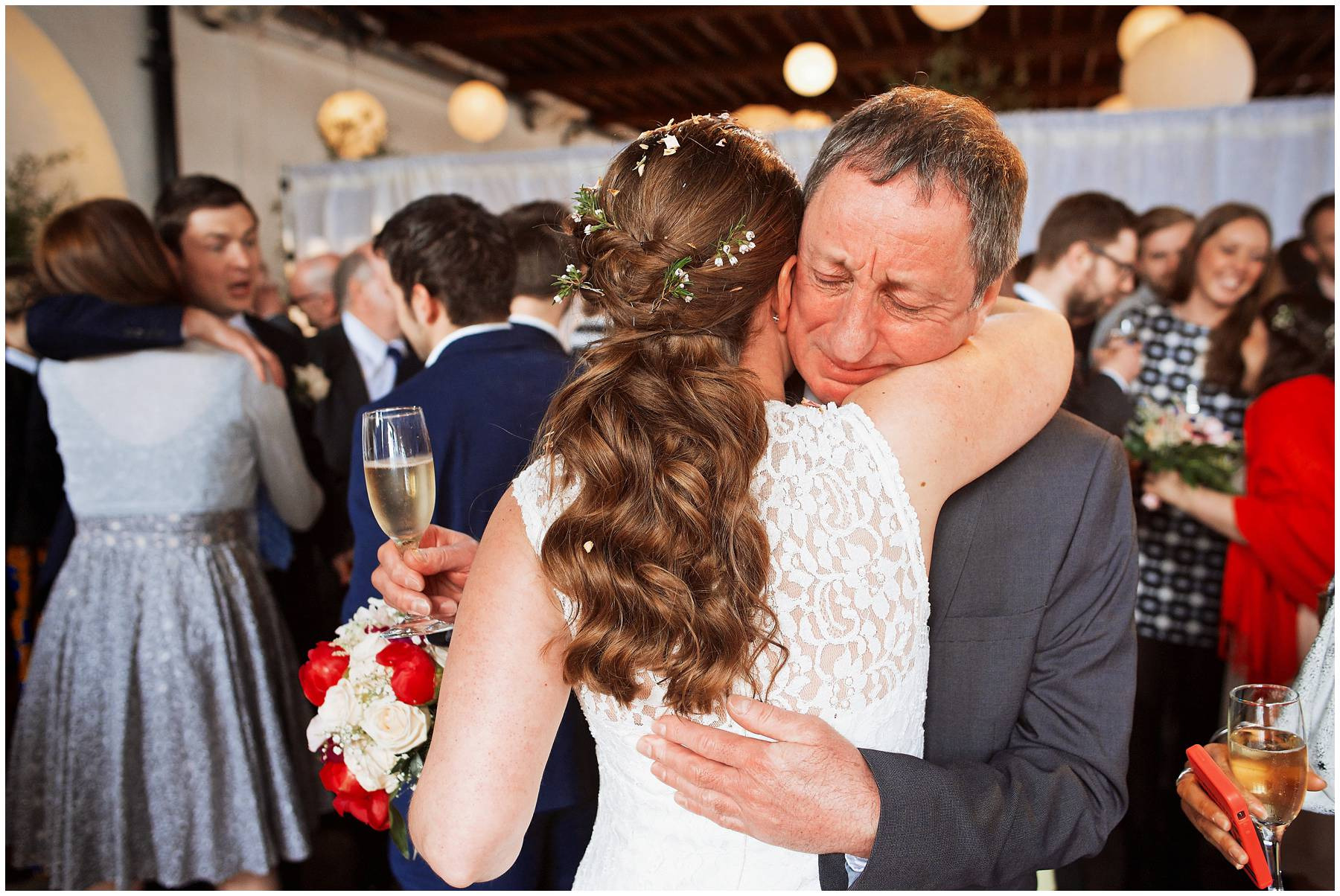 Emotional moment at Trinity Buoy Wharf Wedding