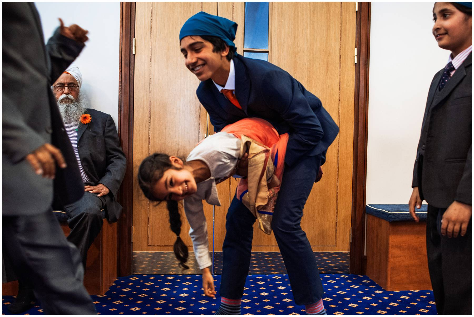 Kids playing at Sikh Wedding